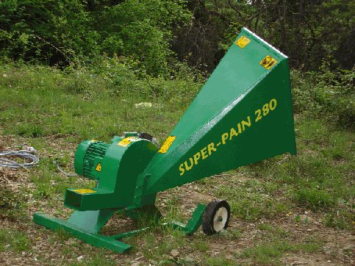SUPER-PAIN 280 chipper with three-phase electric motor