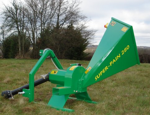 SUPER-PAIN 280 chipper option adaptable on microtractor