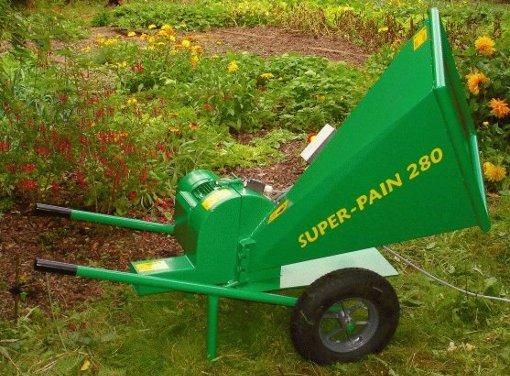SUPER-PAIN 280 chipper with 4hp mono-phase electric motor