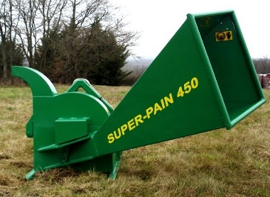 SUPER-PAIN 450 chipper on tractor without evacuation neck